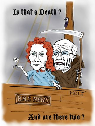 Rebekah Brooks and Rupert Murdoch cartoon