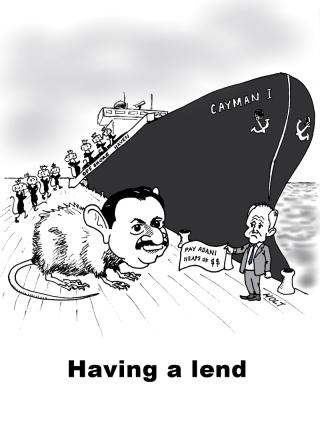 Adani - Carmichael Coal, Government loan cartoon